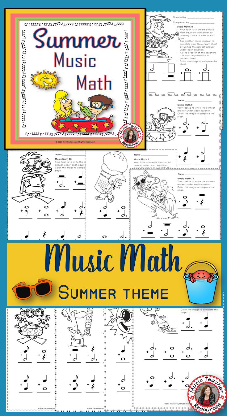 Summer Music Activities: Music Math Worksheets   Music worksheets ...