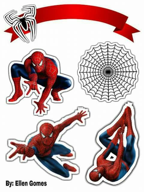 Pin by monica caumene on Toppers | Pinterest | Spiderman, Spider and ...
