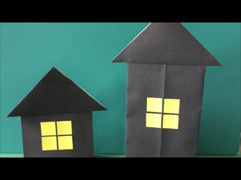 立つ家 ハロウィン折り紙 Stand House Halloween Origami Youtube