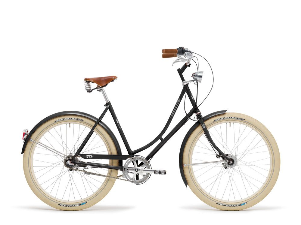 Tiefschwarz Ral9005 Fahrrad Damenfahrrad Fahrradmanufaktur