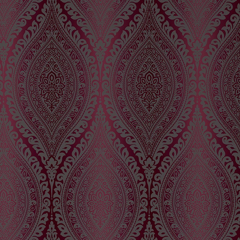 Silver Damask Glitter Wallpaper Metallic Sparkle Luxury Embossed Textured Vinyl