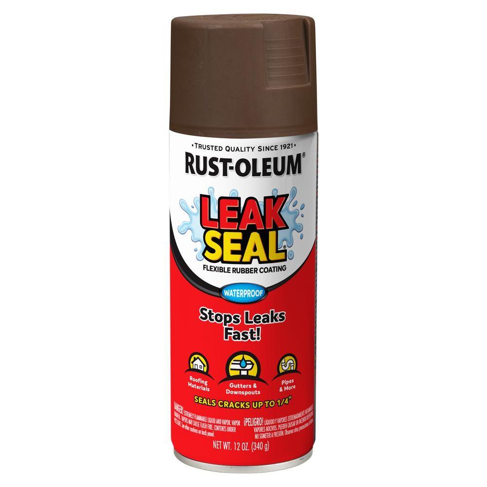 RustOleum Stops Rust 12 oz. LeakSeal Brown Flexible