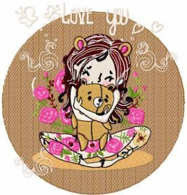 i love you my teddy embrodiery design. Machine embroidery design. www.embroideres.com