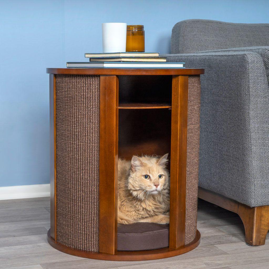 Purrrrfect End Table Modern cat furniture, Modern cat