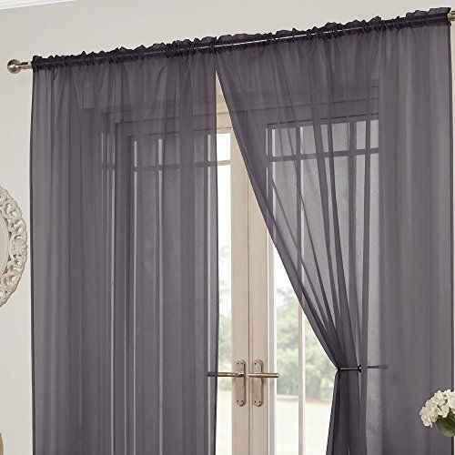 Lucy Slot Top Pair Of Voile Curtains Silver Grey 57 W Https Www Amazon Co Uk Dp B072jmmxbc Ref Cm Sw R Pi Dp X Voile Curtains Curtains Home Curtains
