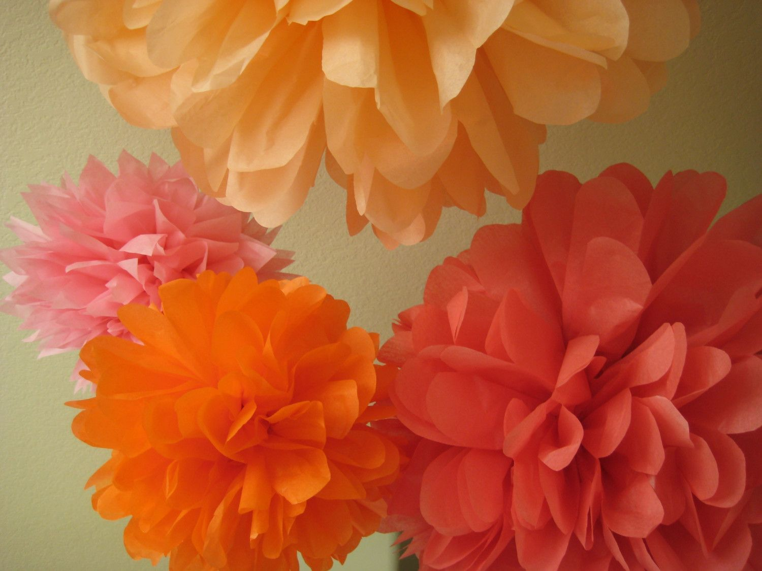 Baby shower wedding buy tissue paper poms tissue paper pom pom kit - 9 Tissue Paper Pom Poms Decoration Holiday Party Outdoor Picnic Diy Kit