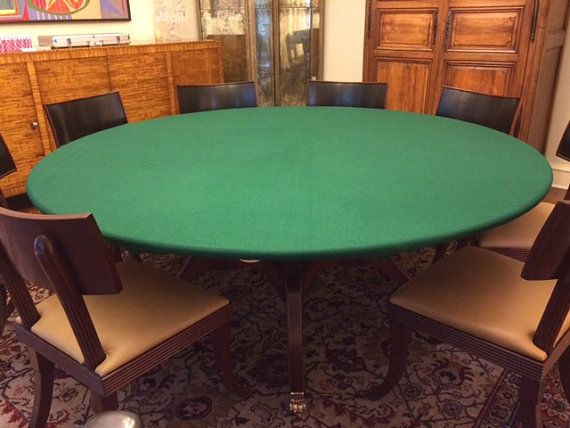 Felt Poker Table Cloth Bonnet Cover For Round Square Or Rectangle