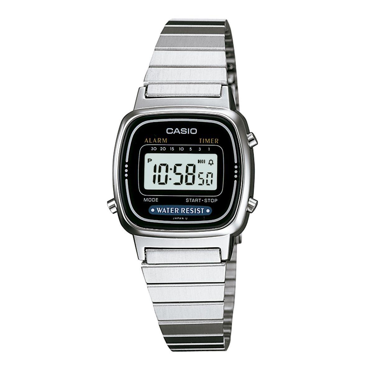 56ce0f871ba Relógio Casio Vintage Feminino Prata Digital LA670WA-1DF e as melhores  ofertas você encontra aqui
