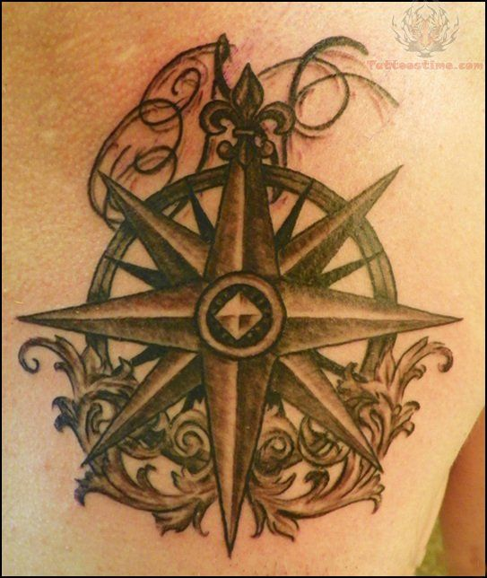 tattoo images of cumpis | Rose Compass Tattoo