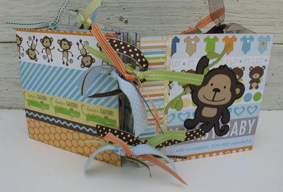 adorable baby boy scrapbook photo album ready to ship this