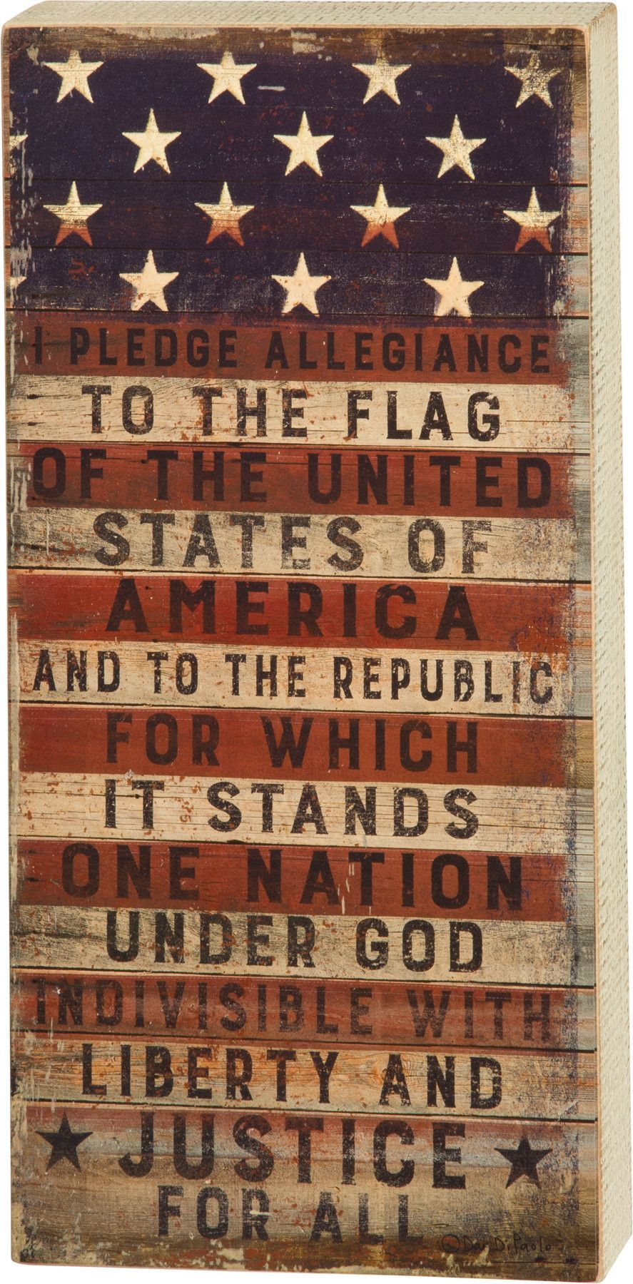 Patriotic Independence Day Farmhouse Decor Sweet Land of Liberty Hand Painted Sign