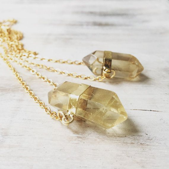 Raw Smokey Quartz Crystal Necklace, gold crystal, crystal necklace, gemstone necklace, quartz cluster necklace, gold played, electroformed.