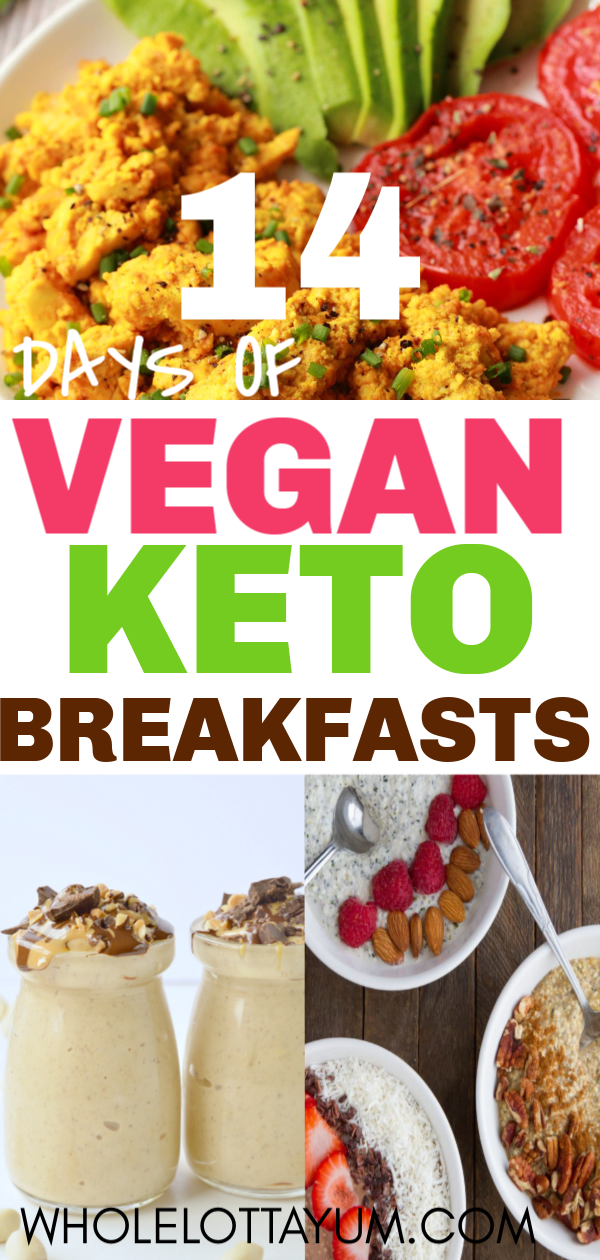 Keto Breakfast Ideas that Make an easy Keto Vegan Meal Plan A 14 day keto vegan meal plan for breakfast! Our list will make it simple to find easy vegan keto breakfast recipes.A 14 day keto vegan meal plan for breakfast! Our list will make it simple to find easy vegan keto breakfast recipes.