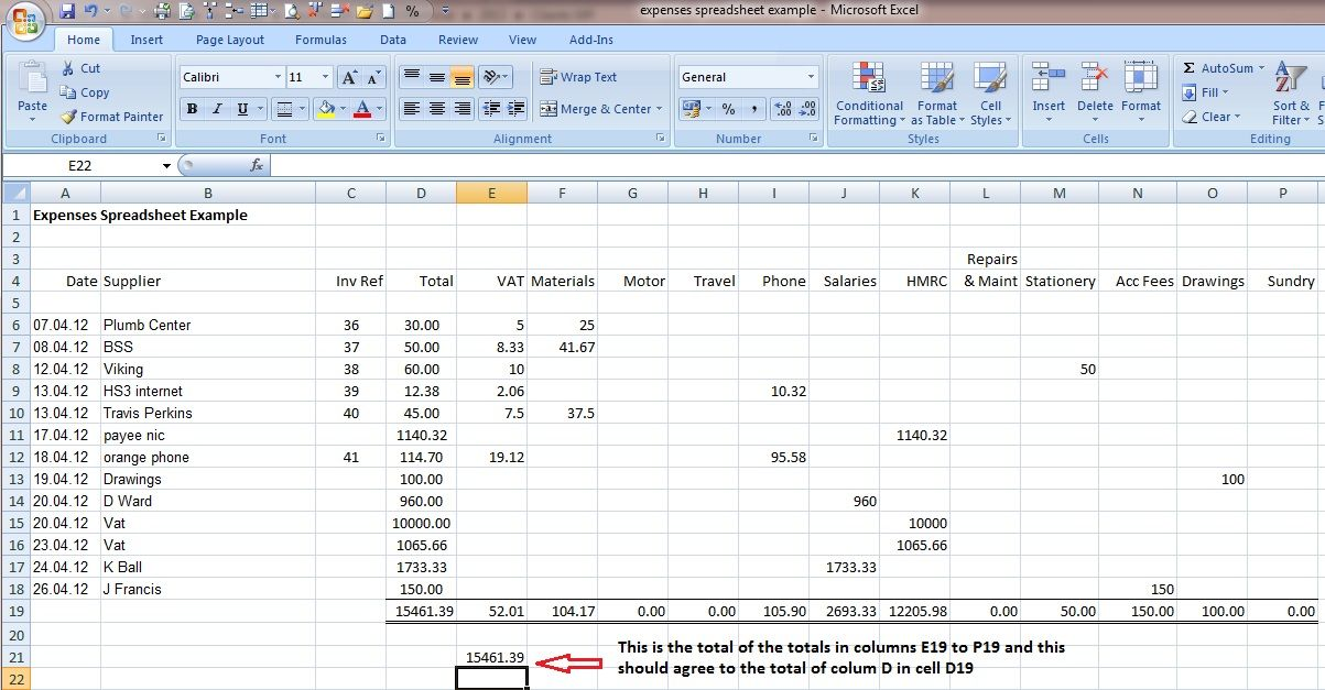 Spreadsheet Examples For Small Business Check more at   - Financial Spreadsheet For Small Business