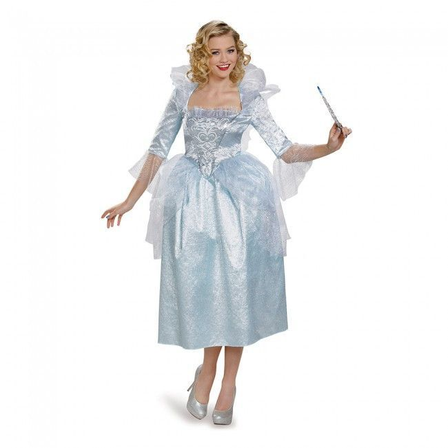 Cinderella Fairy Godmother Movie Deluxe Women S Costume Fairy