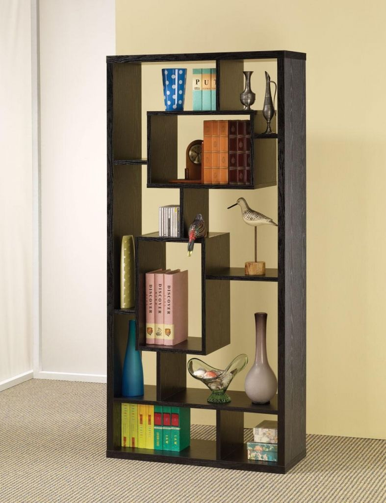 black bookcase w shelves and display space new sale