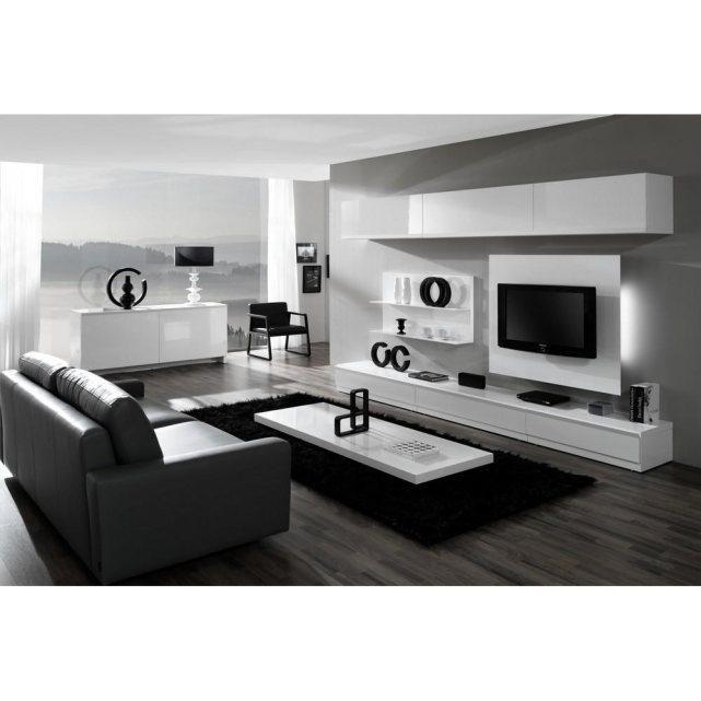 meubles salon noir et blanc meuble