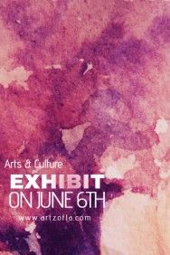 Paint Splash Watercolor Art Culture Exhibit Flyer Campaign Simple