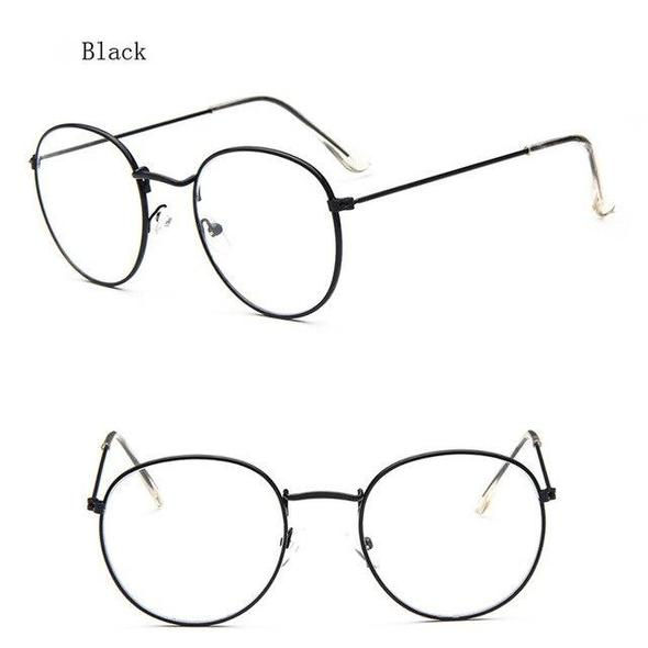 Photo of retro Vintage Eyewear Frame Myopia Glasses Clear Lens Women Spectacle Frame Meneosegal