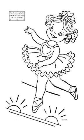 Desenhos De Bailarinas Para Pintar E Colorir Padroes De Bordado