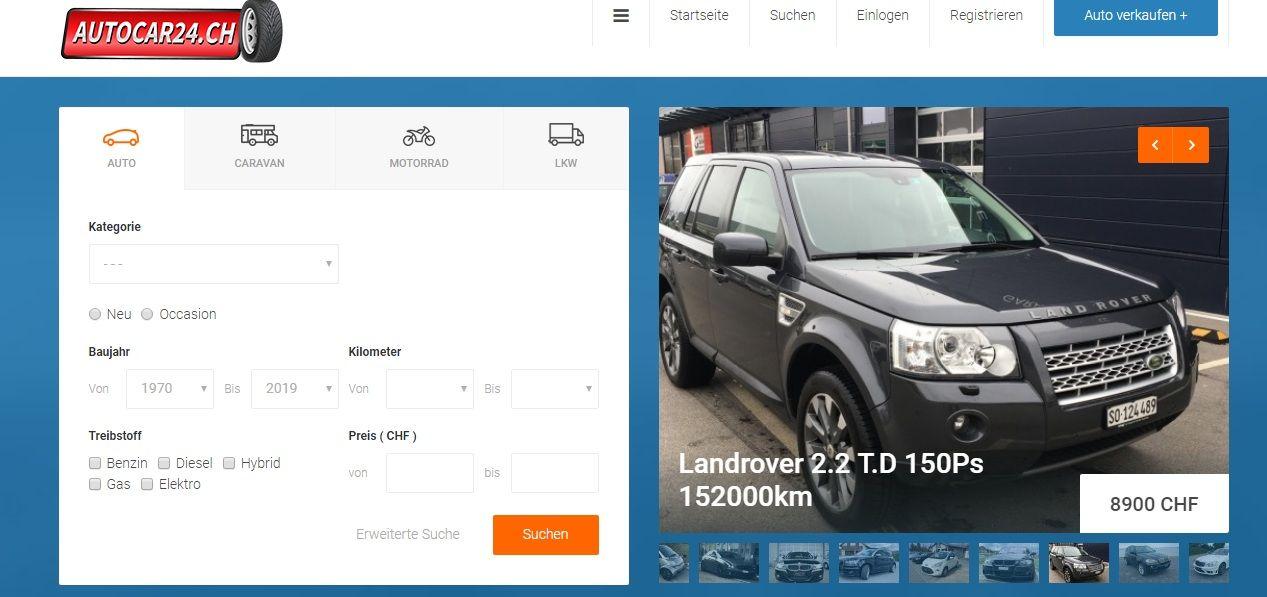 Auto suchen | kaufen in der schweiz || kostenlose