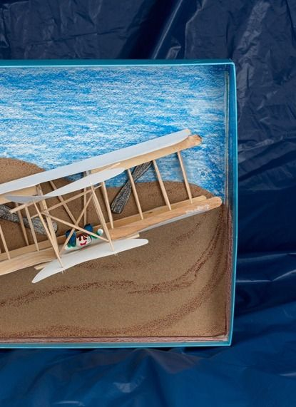 Recreate the Wright brothers' Flyer and the moment that changed transportation.  Grades 3, 4, 5: Flight on the Beach
