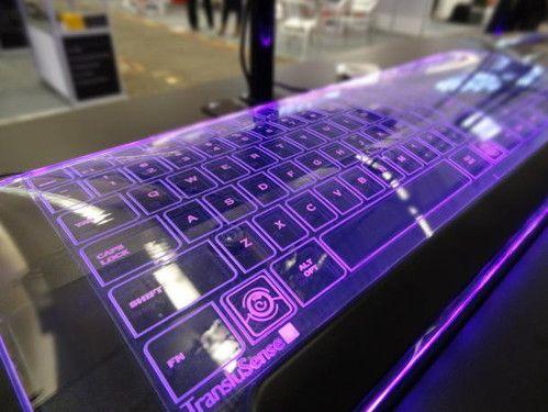 future, futuristic, TransluSense, Luminae, keyboard, Kickstarter, CES 2013, Luminae glass keyboard project, Jason Giddings, TransluSense, future devices, future gadget