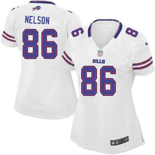 buffalo bills david nelson jersey 86 elite nike white women nfl jersey sale