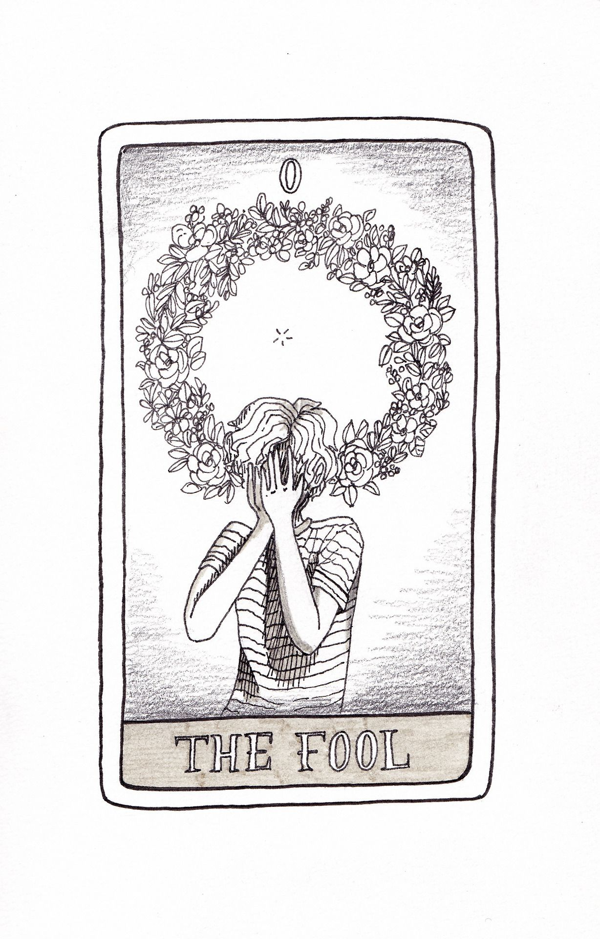 The Fool Tarot Card Drawing By Cheyenne Barton