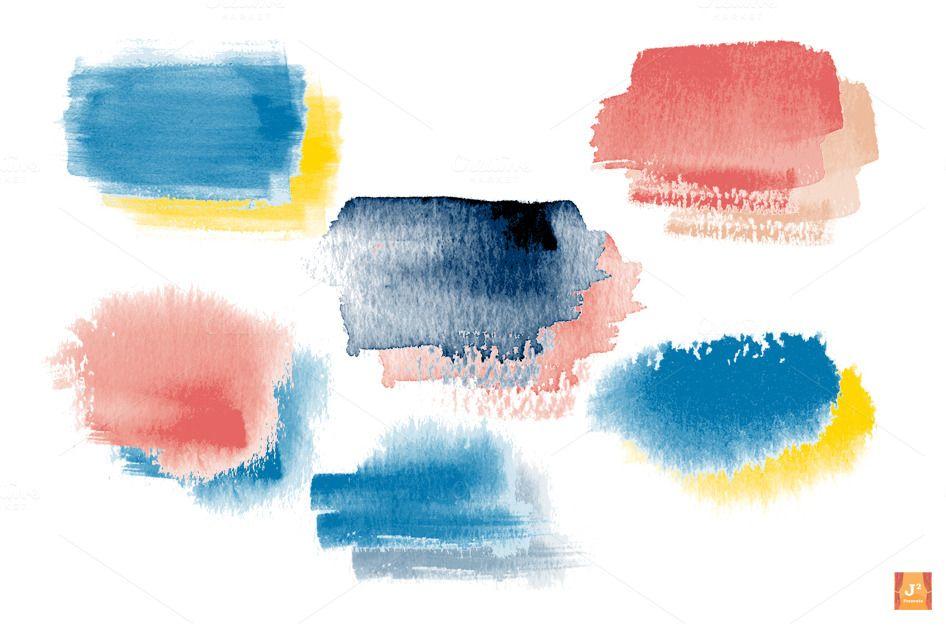 Watercolor Brush Stroke Clip Arts Adobe Illustrator Tutorials