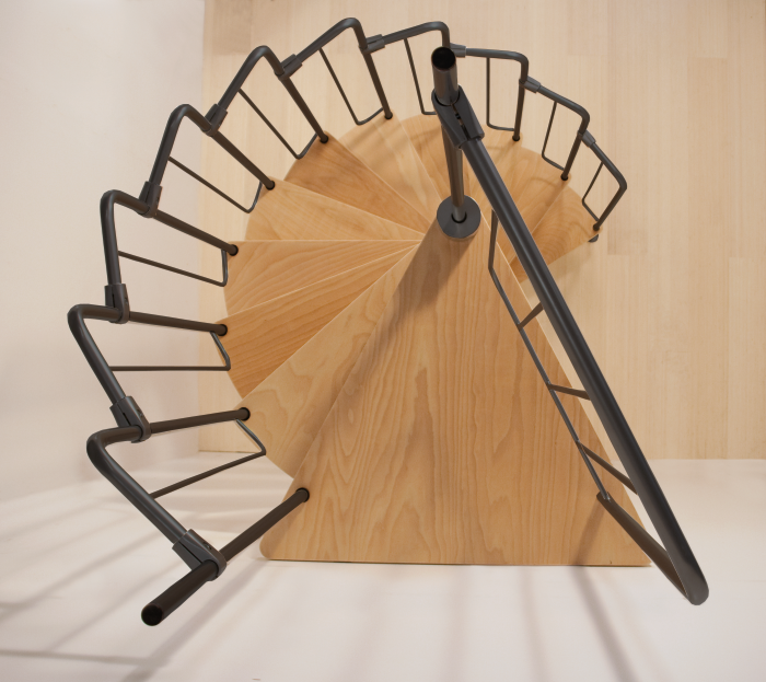 Best Dolle Barcelona Spiral Stair Kit With Black Metal Work £ 640 x 480