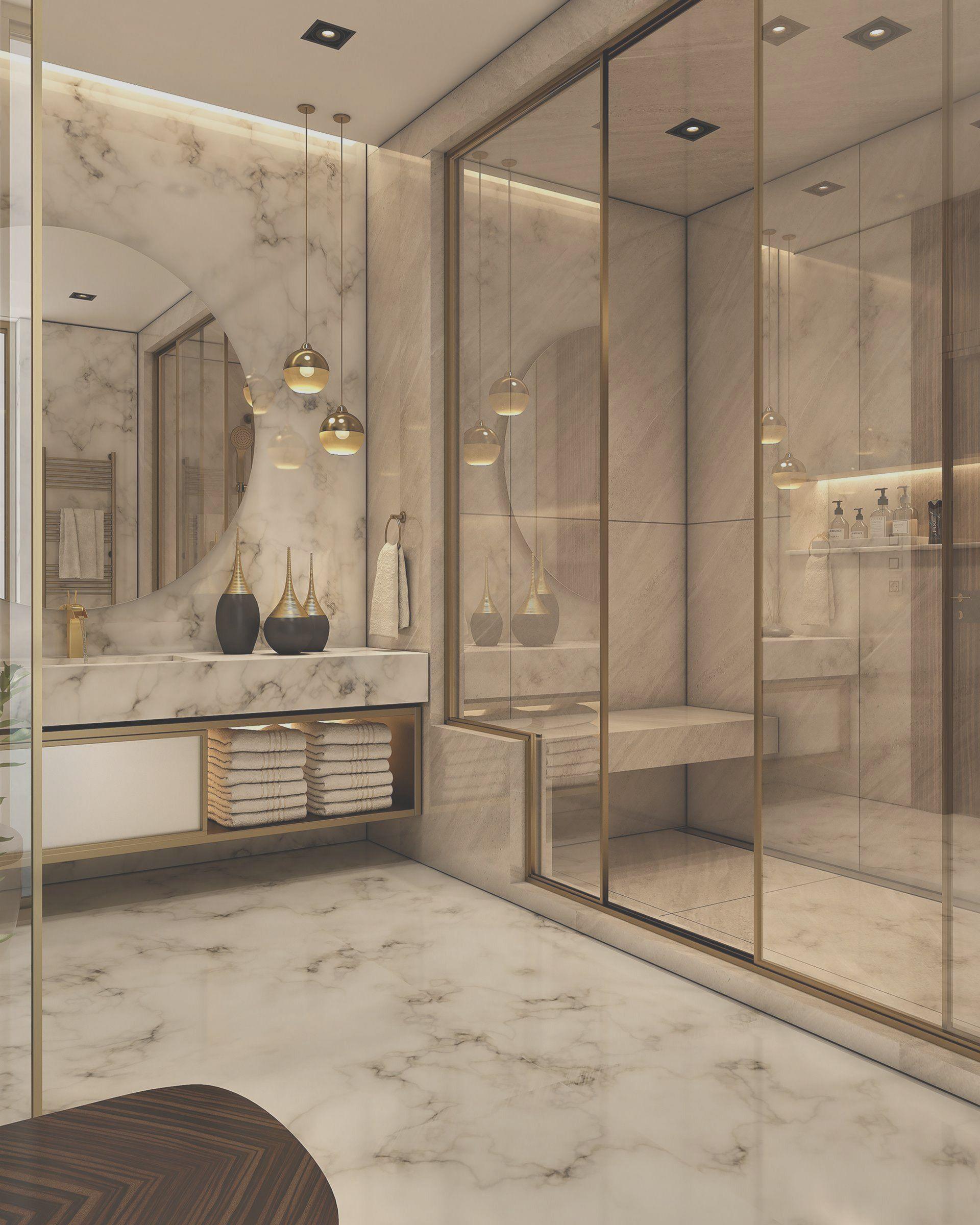 30 Enchanting Luxurious Bathroom Decor Design Ideas 2020 In 2020 Bathroom Design Luxury Bathroom Interior Design Modern Bathroom Design