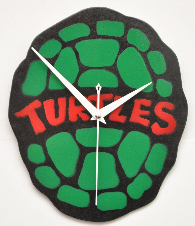 Teenage mutant ninja turtles wall clocks handmade by clockwerkz