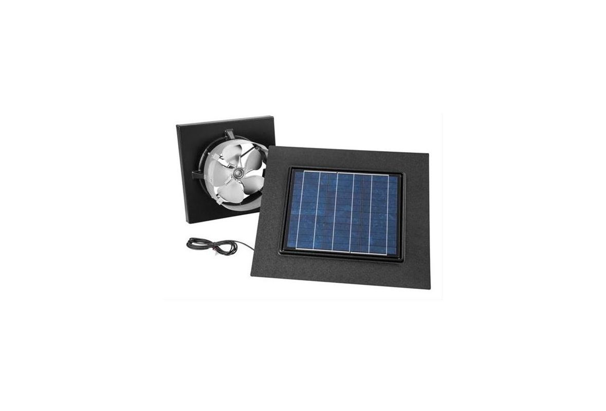Broan 345go Gable Mounted Attic Ventilation Fan With Remote Solar Panel Up To 3 Black Fans Powered Attic Ventilator Gable M Attic Vents Broan Attic Ventilation