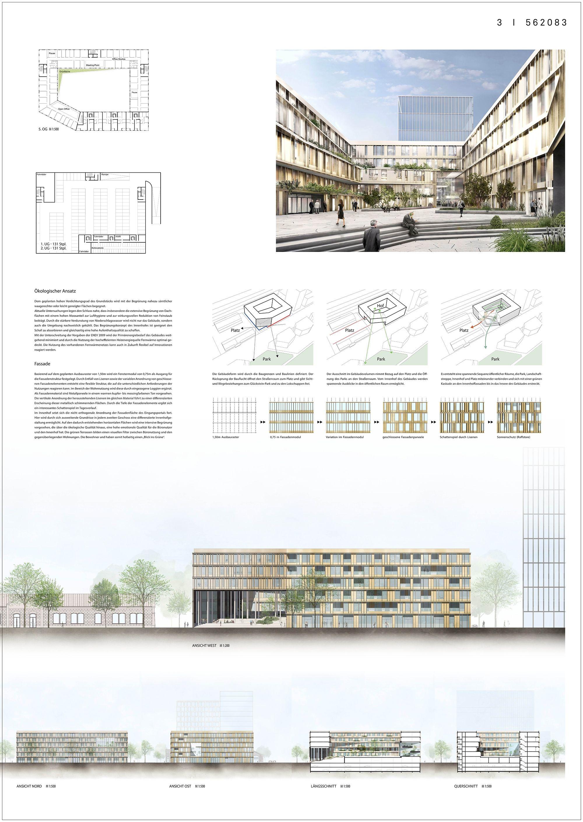 Ergebnis: Glücksteinquartier Baufeld 3 in Mannheim...competitionline #architektonischepräsentation