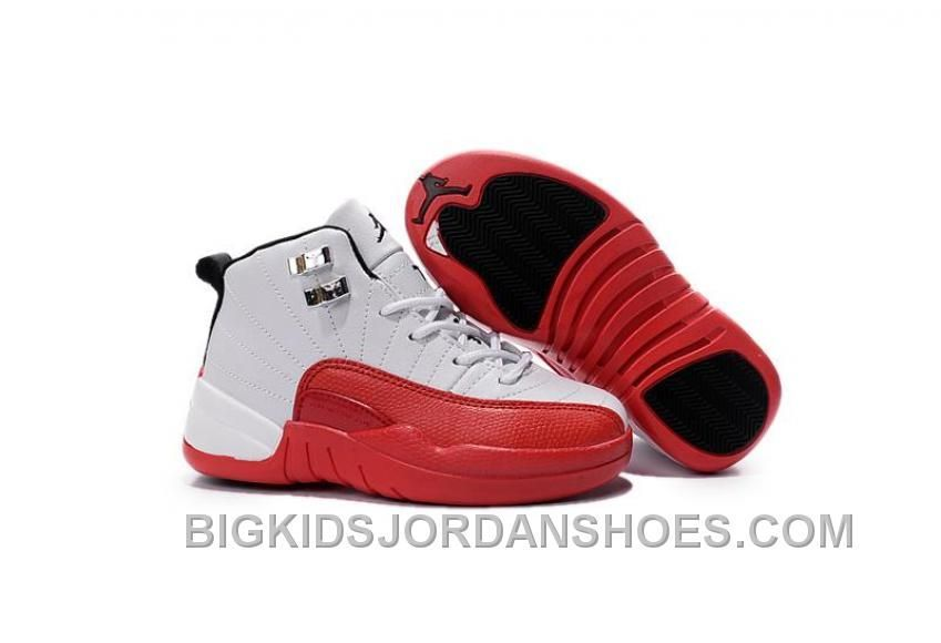 competitive price 416ed 8baf4 NEW 2016 DISCOUNT NIKE AIR JORDAN 12 XII KIDS BASKETBALL SHOES WHITE RED  CHILD SNEAKERS Only  85.00 , Free Shipping!