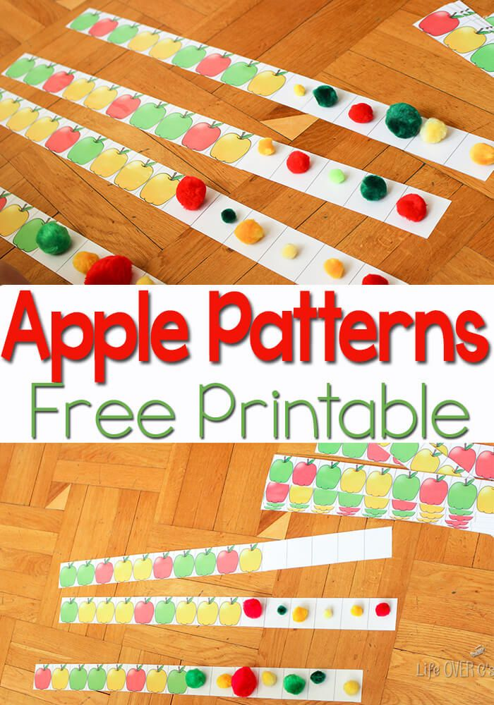 Free Apple Patterns For Higher Order Thinking Apple Preschool