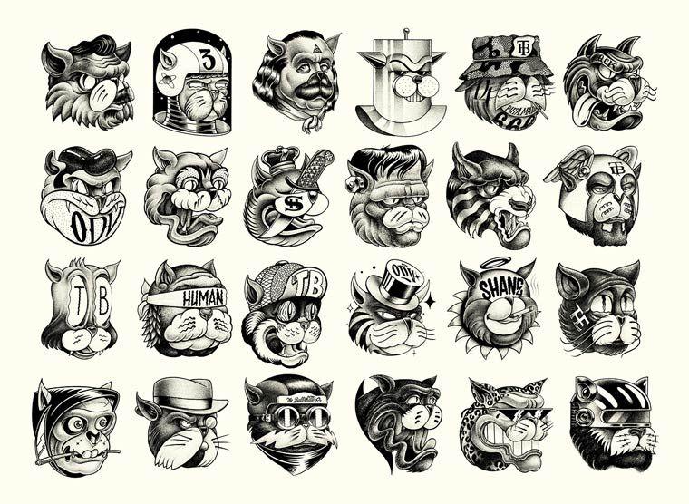 The Bullshitters – Les superbes illustrations monochromes de SHANE