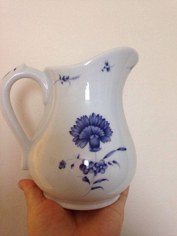 White Porcelain blue flowers designed authentic Lys by AldoLeo