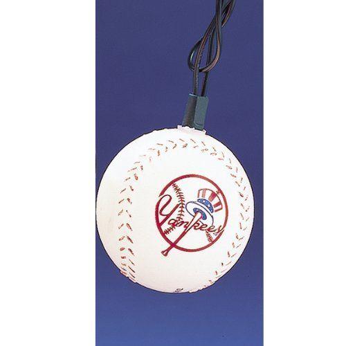 Kurt Adler New York Yankees Bat and Ball Ornament