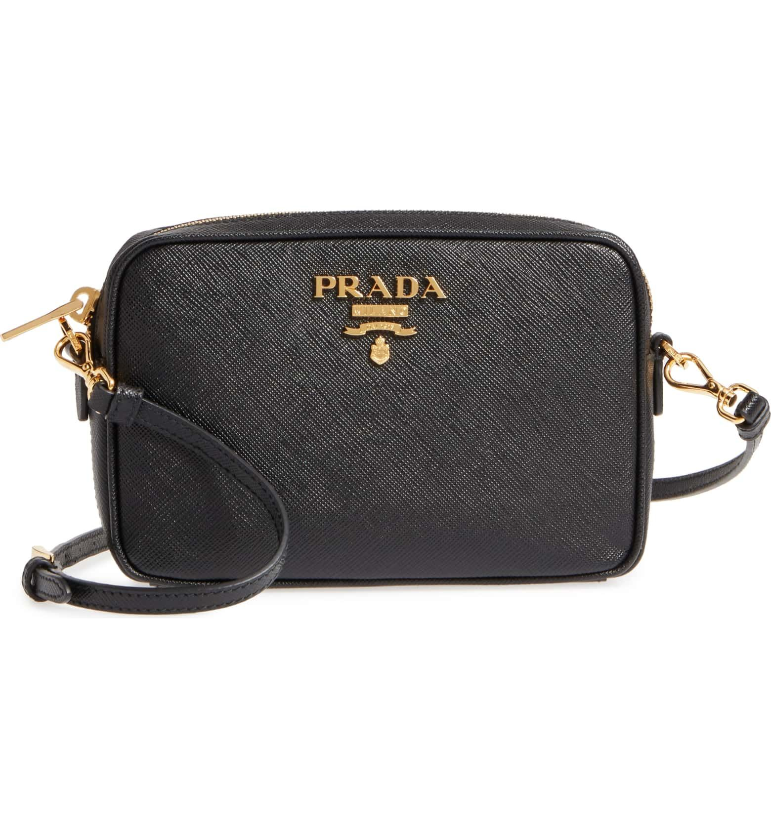 f27d21cd290f ... 50% off saffiano leather camera bag main color nero leather camera bag  prada saffiano 92691