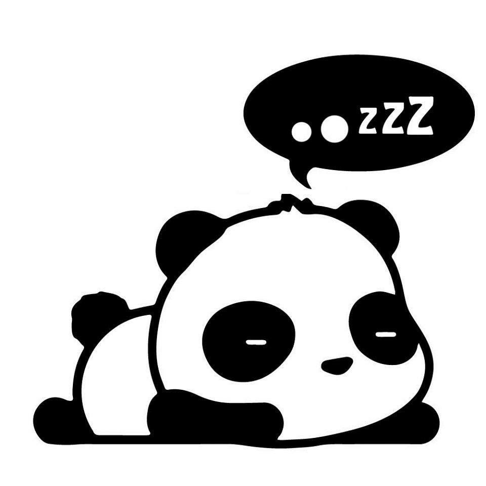 Sleepy Panda With Images Cute Panda Drawing Panda Art Kawaii