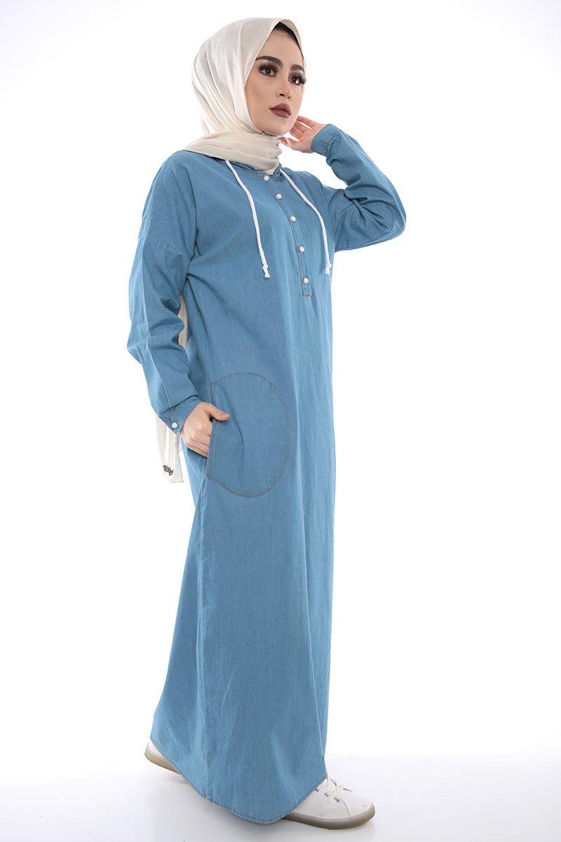 4e653655d67c1 Kumaş Özelliği : Kot kumaştan üretilmiştir. Ürün Özelliği : Yeni sezon  kapşonlu spor elbise modelidir