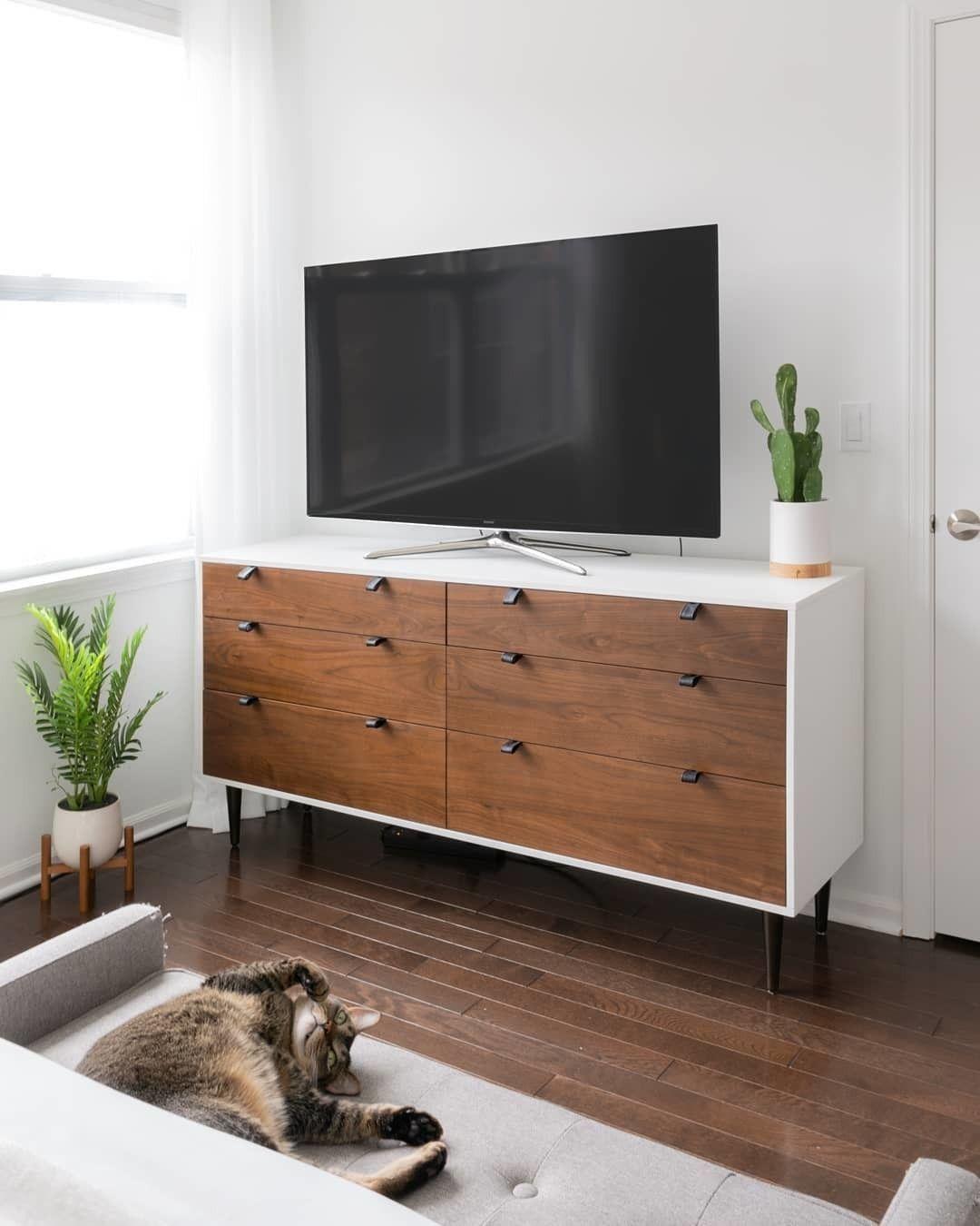 Envelo White Walnut 6 Drawer Double Dresser White Furniture Bedroom Modern Modern Bedroom Dressers Furniture [ 1350 x 1080 Pixel ]