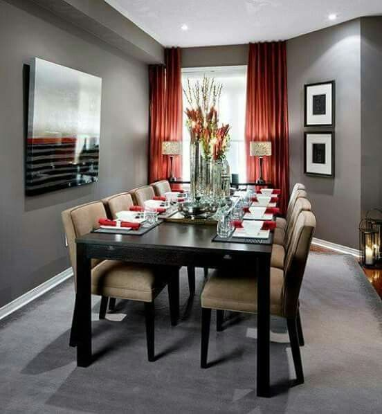 New Dining Rooms with Red Walls