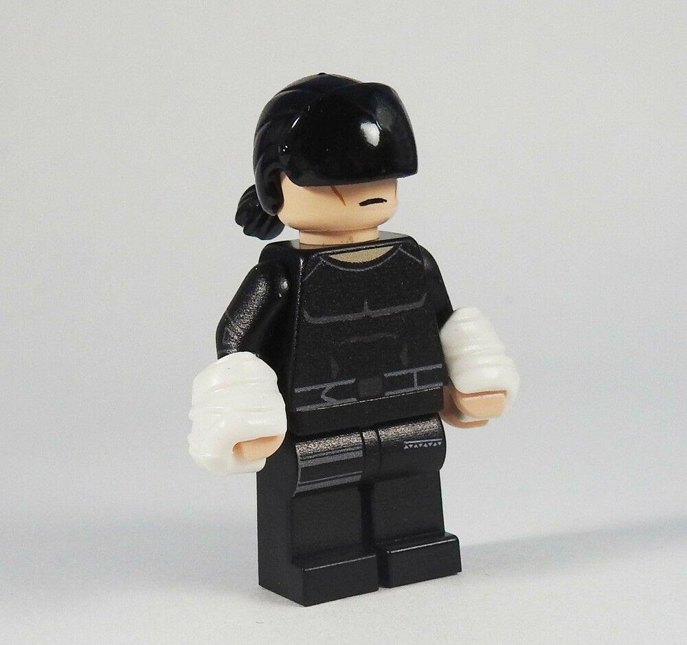Custom Daredevil black Marvel Super heroes minifigures on lego bricks