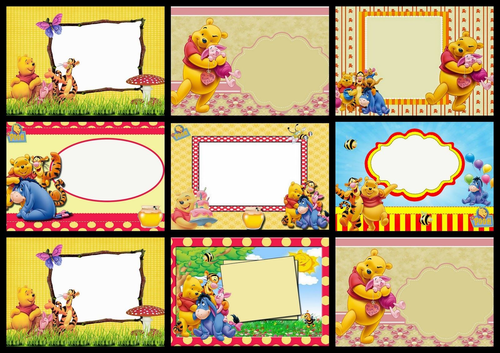 Winnie The Pooh Party Free Printable Invitations