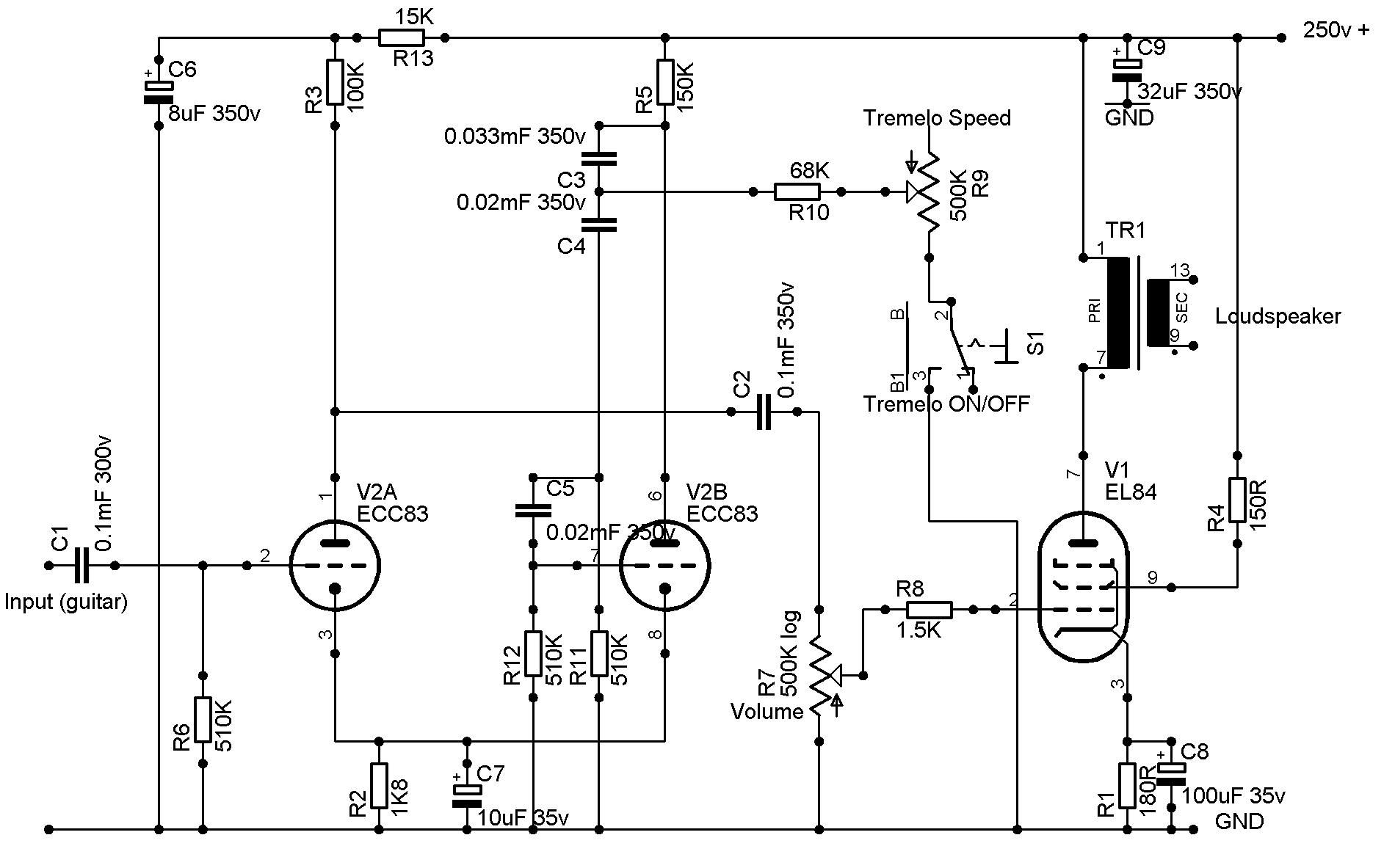 The Chav Amp Schematic