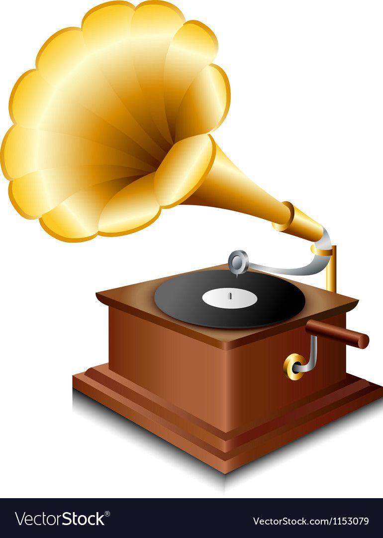gramophone royalty free vector image vectorstock vector free vector images free vector images pinterest