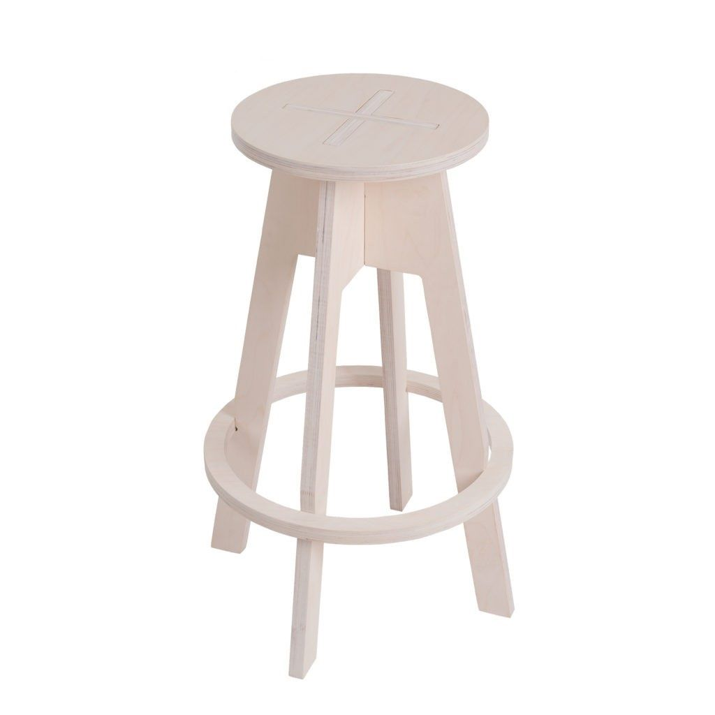White Plywood Stool For Kitchen Counters And Breakfast Bars The Height Is 70 Cm Wooden Bar Stools Leather Chair With Ottoman Stools For Kitchen Island